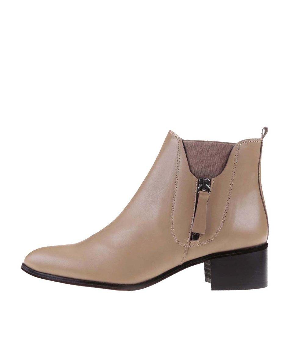 Béžové dámské kotníkové boty OJJU