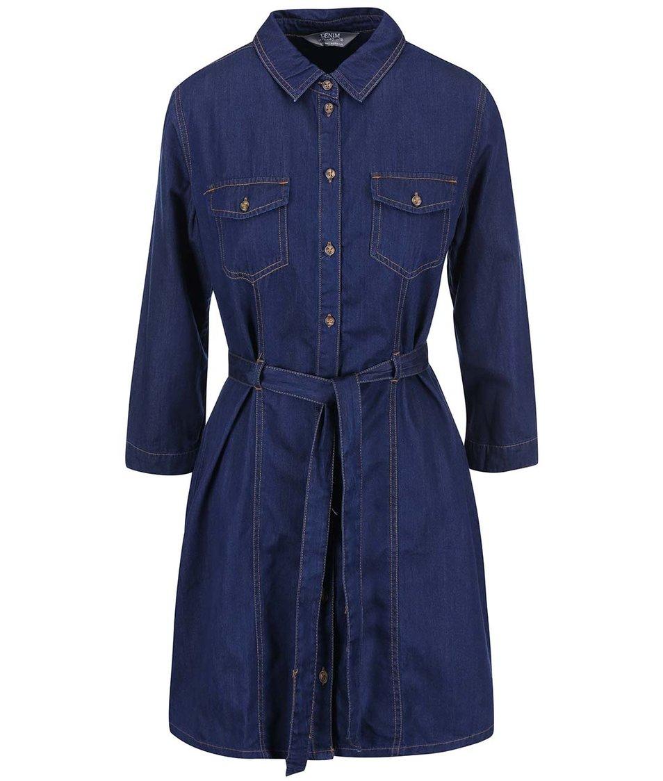 Modré denimové šaty Dorothy Perkins