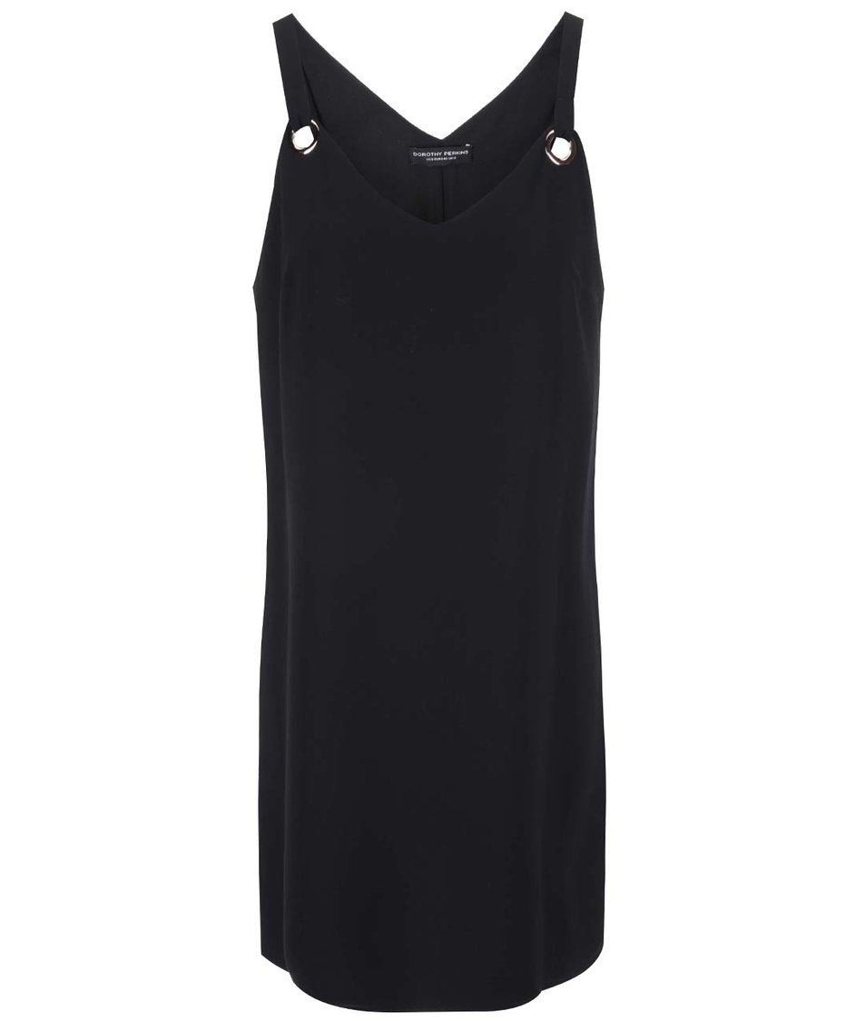 Černé šaty s kovovými detaily Dorothy Perkins
