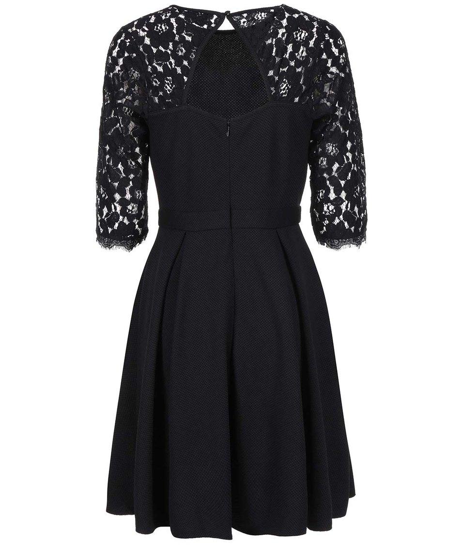 Černé šaty s krajkovými rukávy Dorothy Perkins
