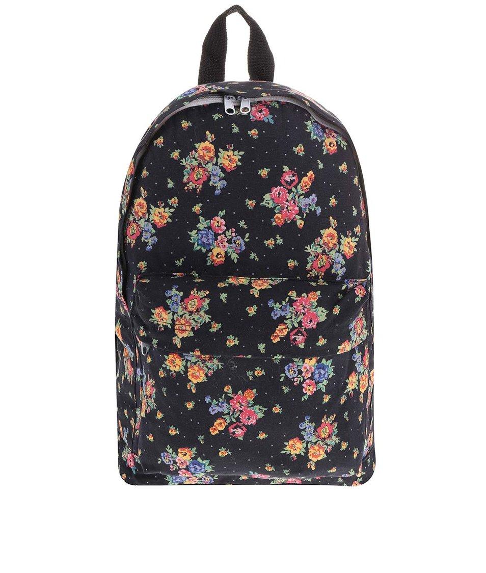 Černý květovaný batoh Sass & Belle Vintage Floral