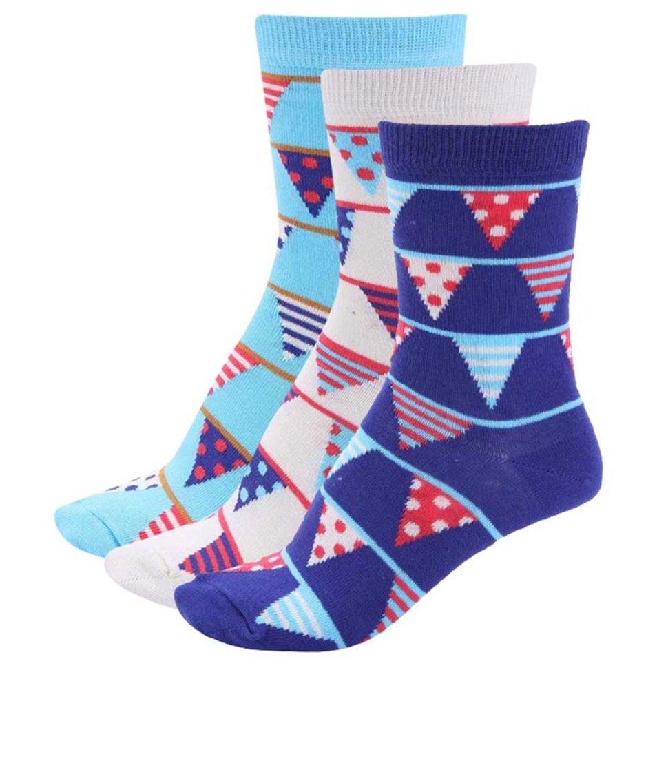 Sada tří barevných dámských narozeninových ponožek Oddsocks Becky