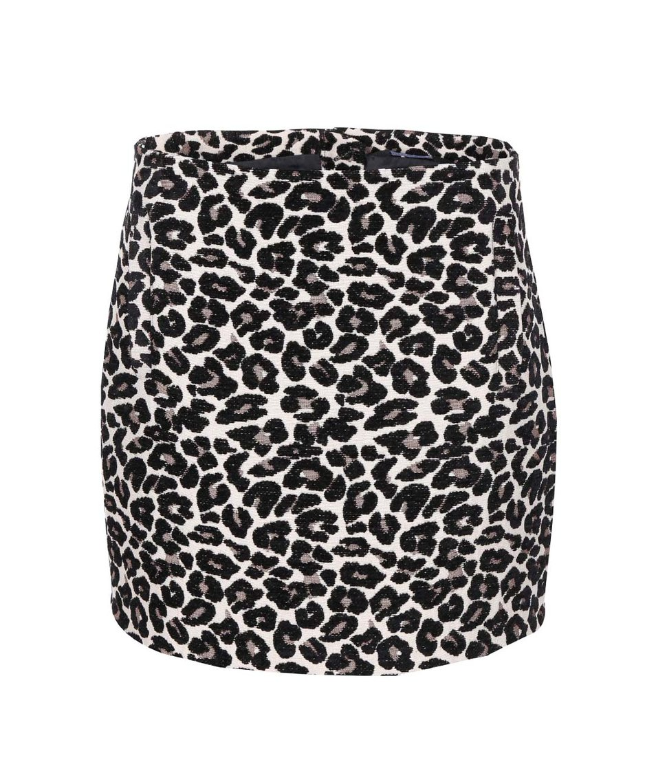 Krémová sukně s leopardím vzorem Dorothy Perkins