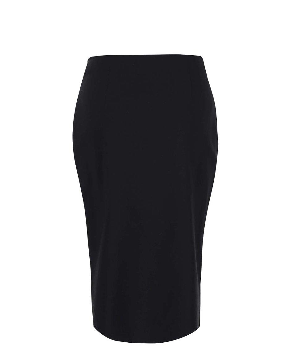 Černá pouzdrová sukně se zipem Dorothy Perkins