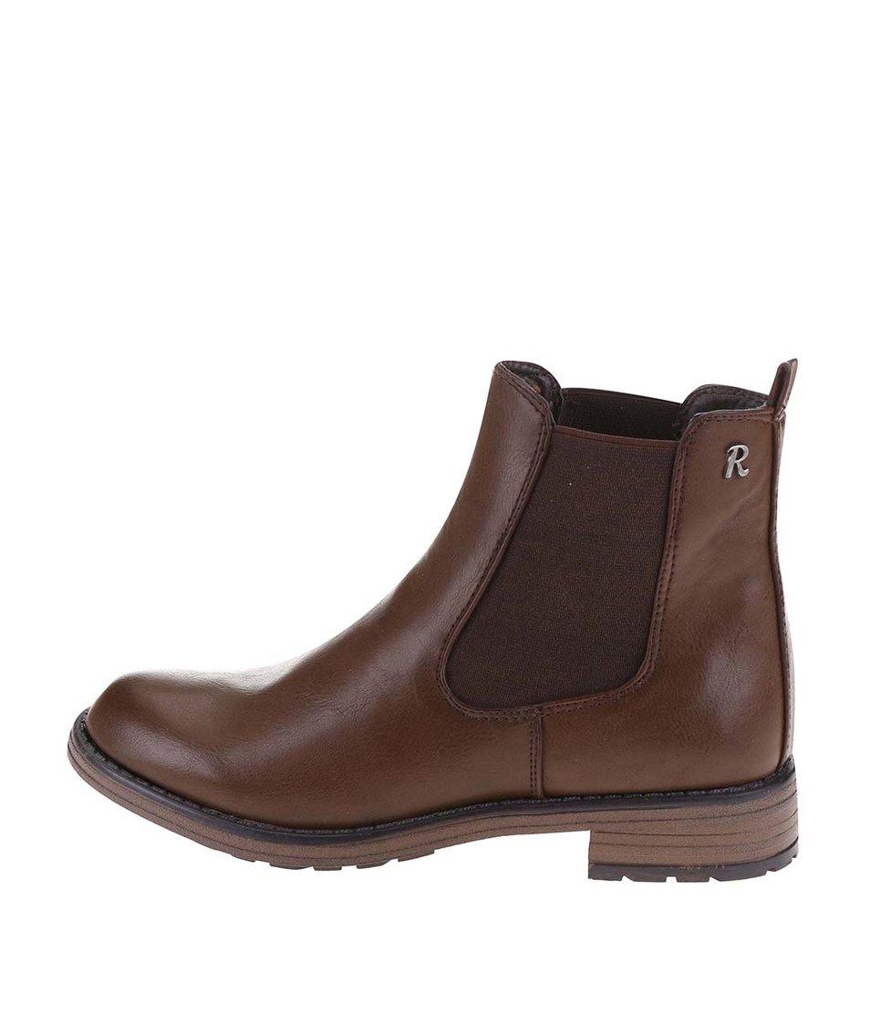 Tmavě hnědé klasické chelsea boty Refresh