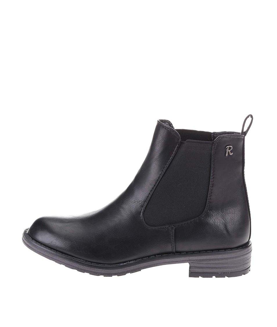 Černé klasické chelsea boty Refresh