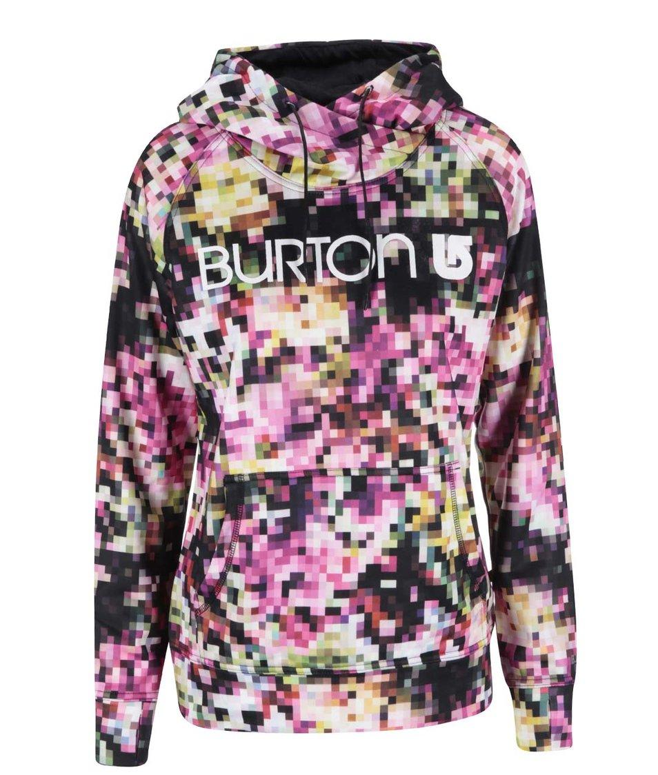 Růžově vzorovaná dámská mikina Burton Quartz f1f8eada55
