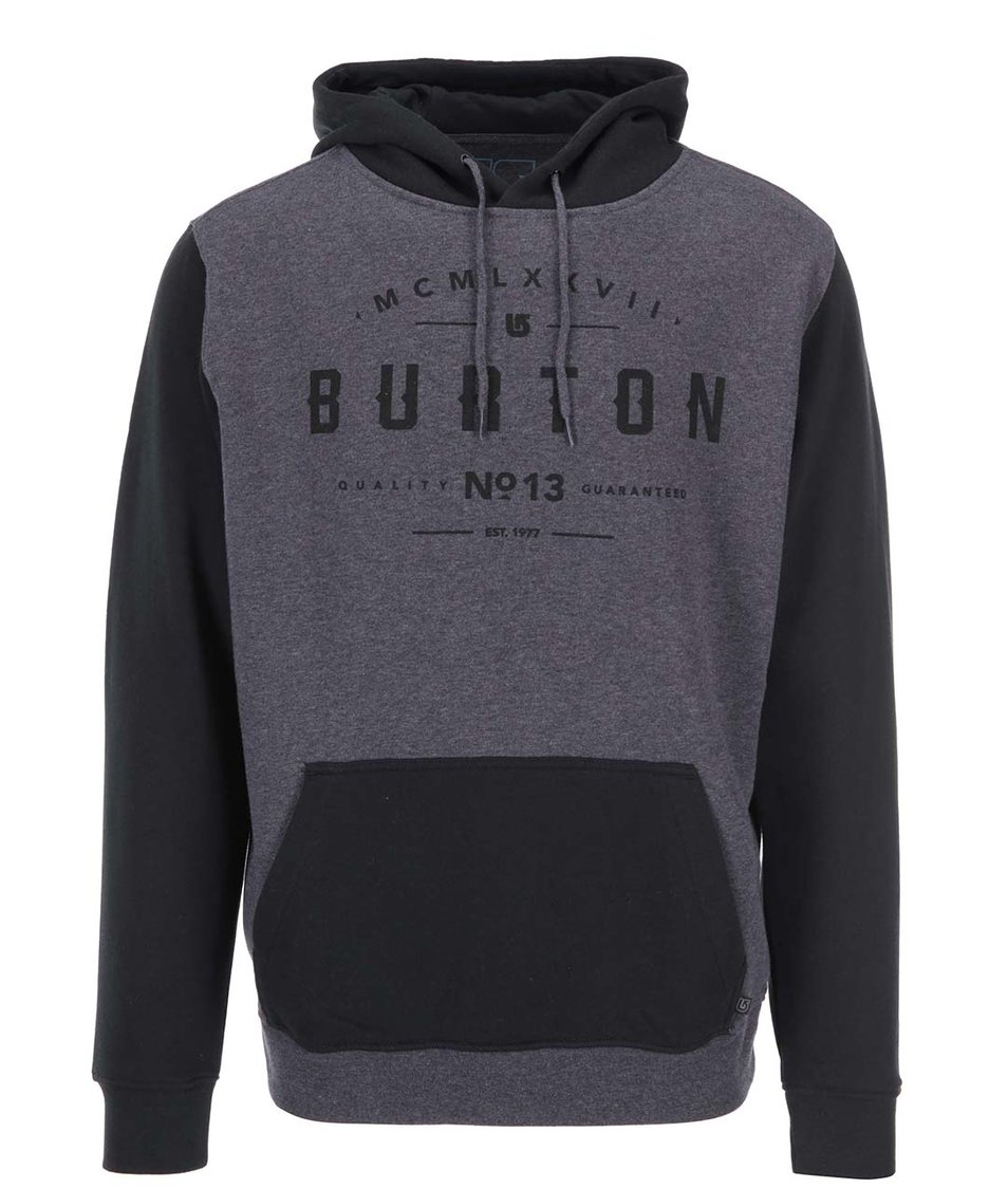 Šedo-černá pánská mikina Burton Numeral
