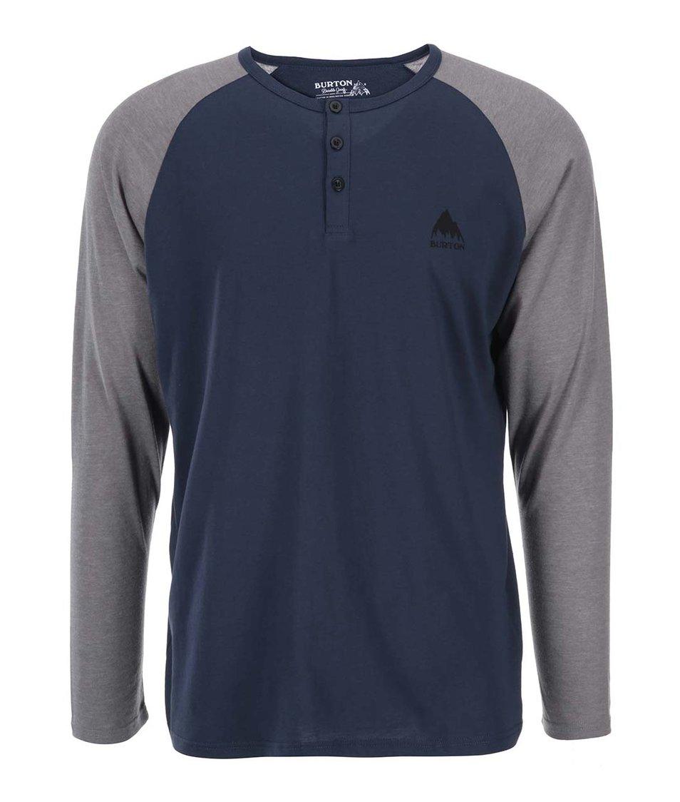Modré pánské triko s dlouhým rukávem Burton Lifty