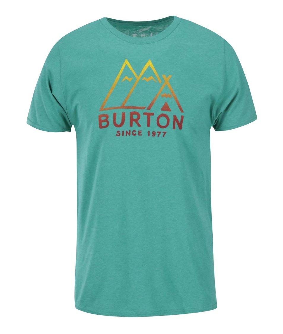 Zelené pánské triko s potiskem Burton Fthills