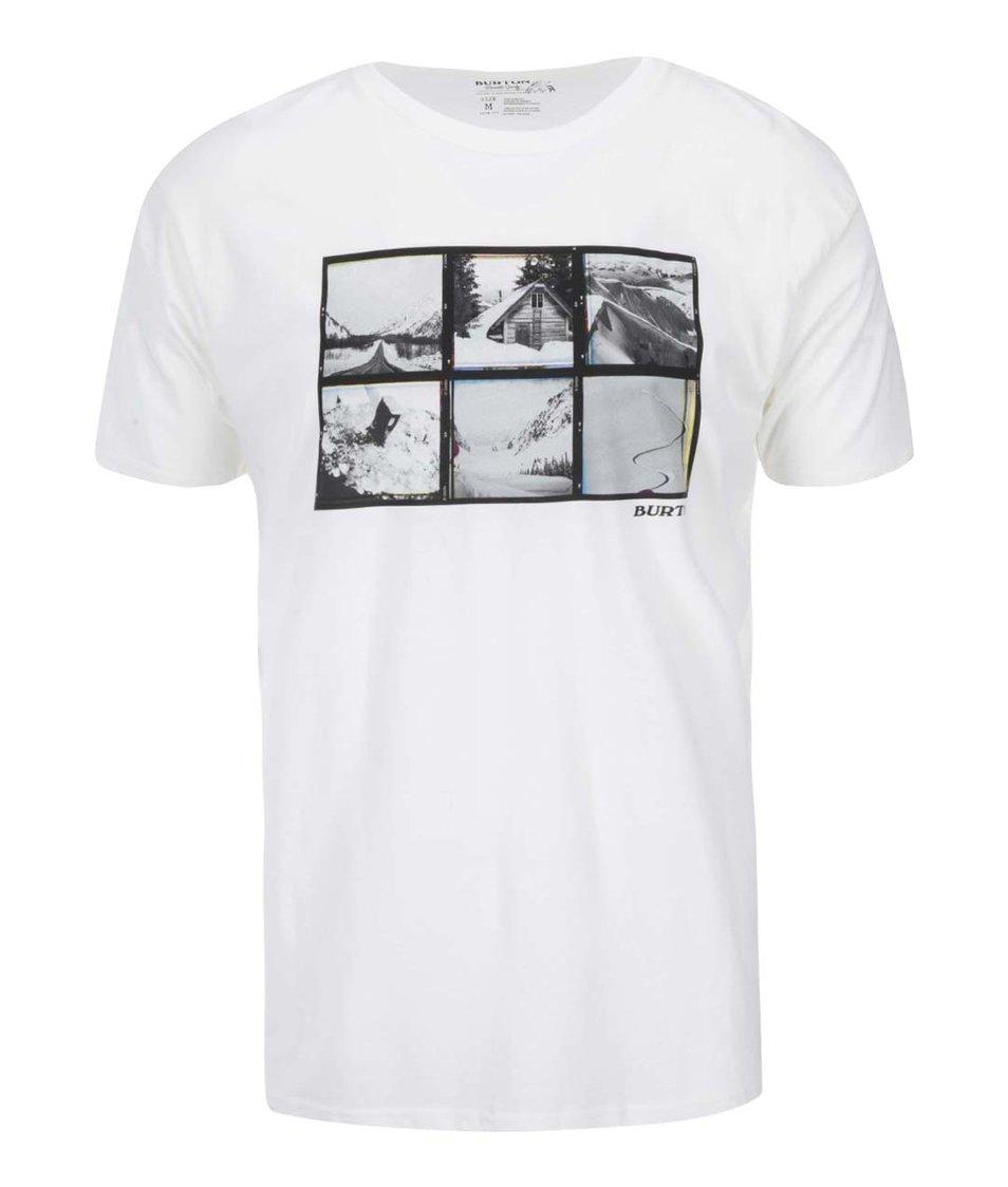 Bílé pánské triko s potiskem Burton Lng Wknd