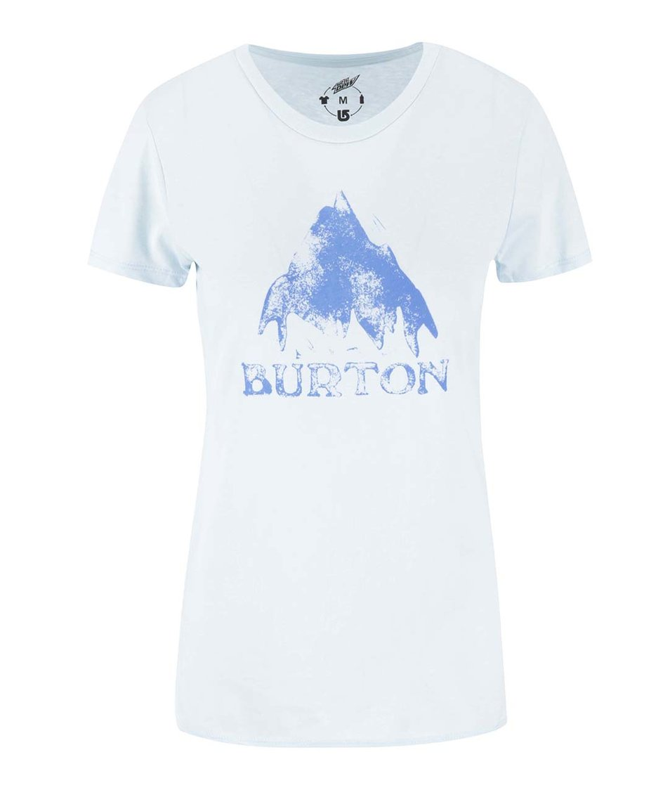 Světle modré dámské triko s potiskem Burton Stmdmtn