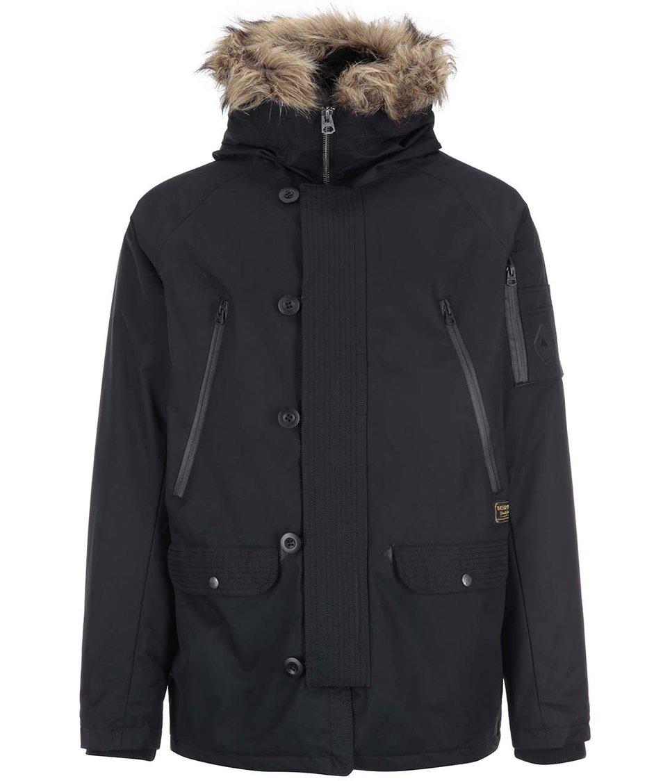 Černá pánská bunda s kapucí s kožíškem Burton Bryce