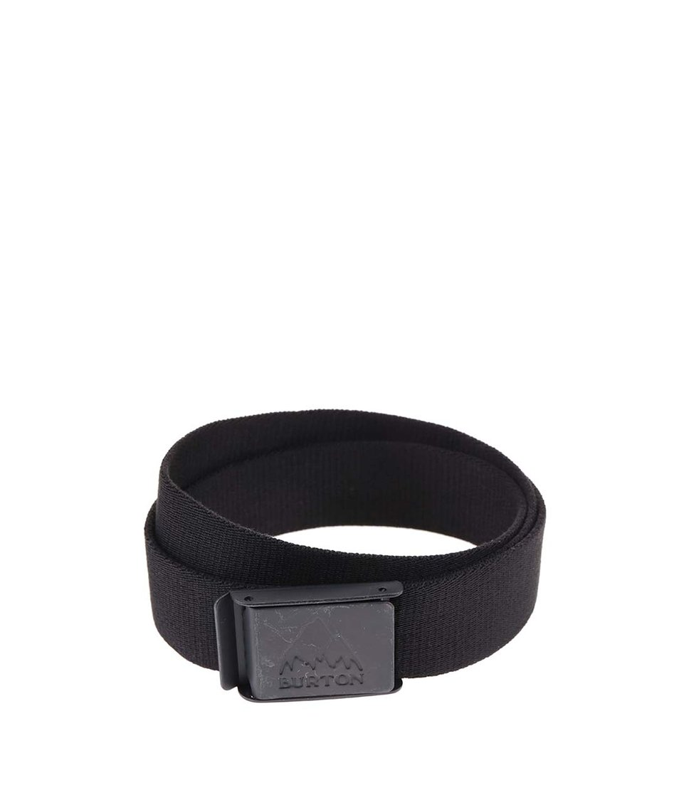 Černý pánský pásek s přezkou Burton Vista