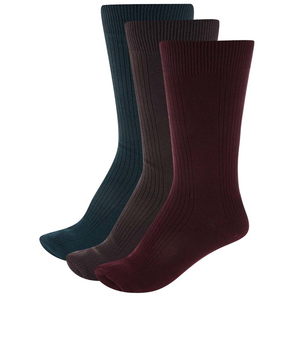 Sada 3 párů pánských ponožek SocksInBox Nature