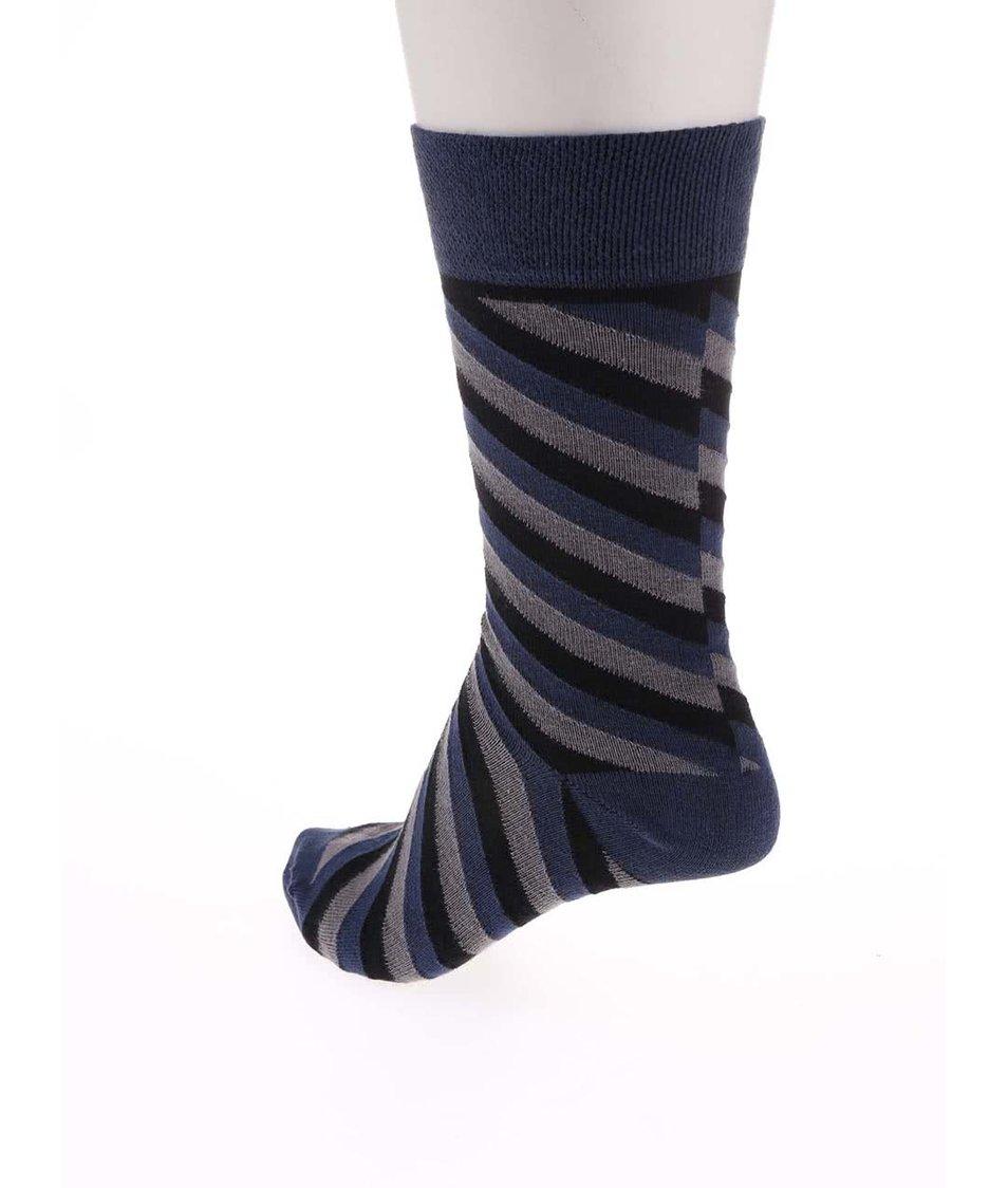 Sada 3 párů pánských vzorovaných ponožek SocksInBox Fume