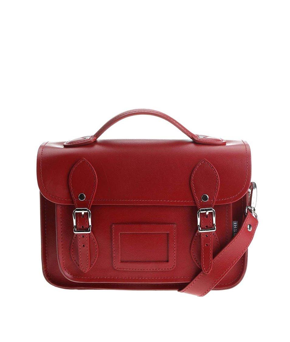 Červená kožená menší kabelka YOSHI Dewhurst