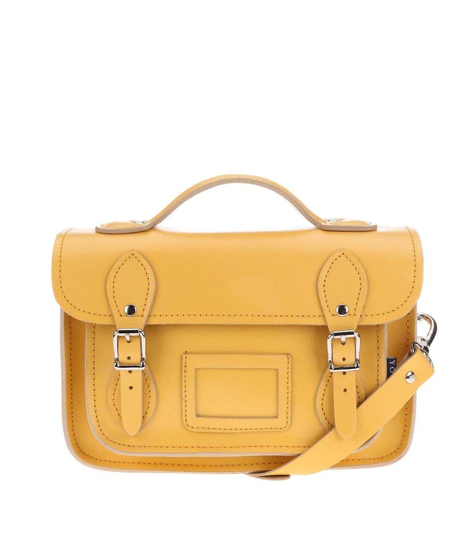 Žlutá kožená menší kabelka YOSHI Dewhurst
