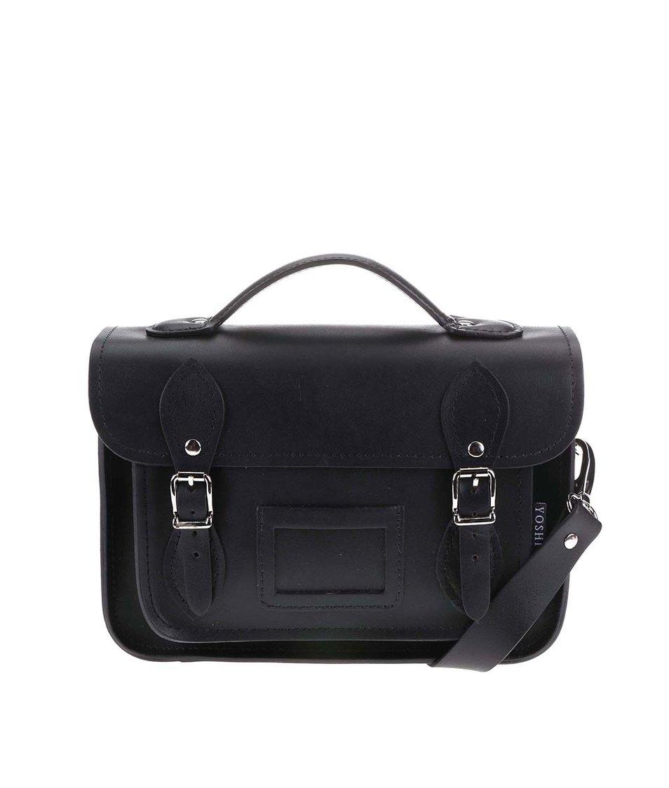 Černá kožená menší kabelka YOSHI Dewhurst