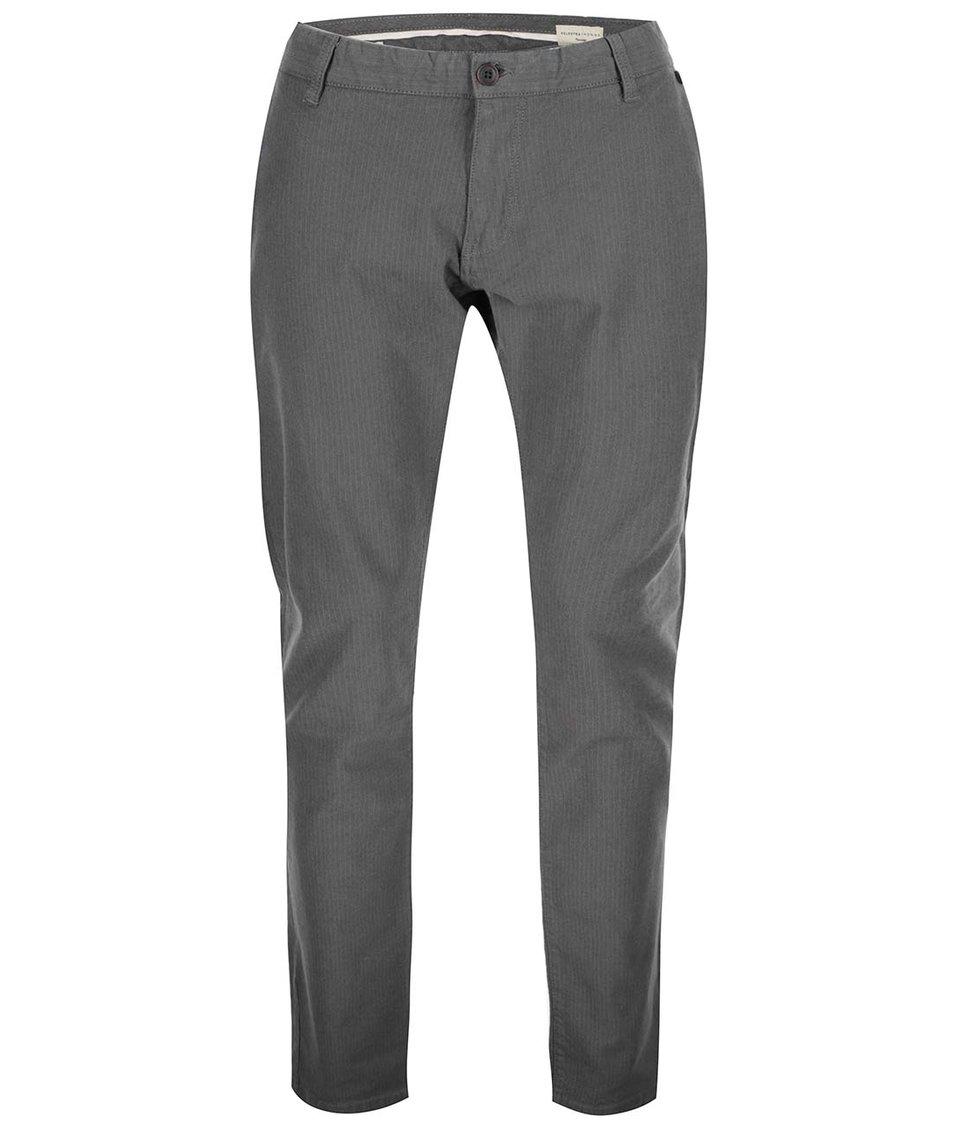 Šedé kalhoty s jemným vzorem Selected Ben