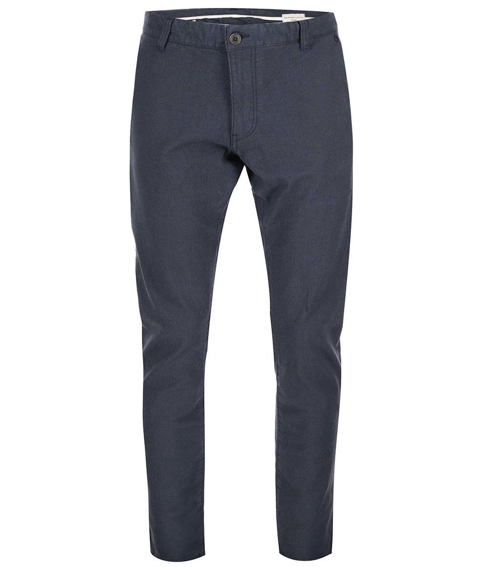 Tmavě modré kalhoty Selected Ben