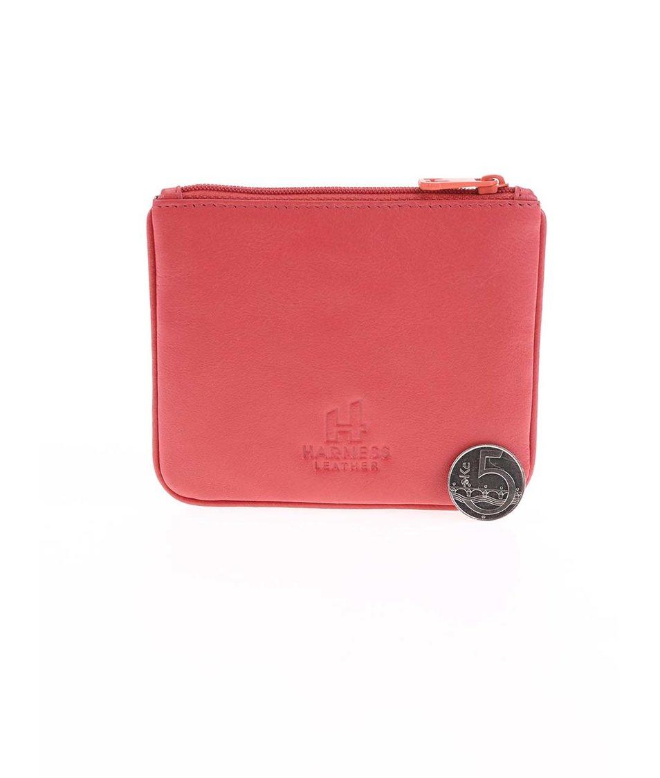 Růžová kožená peněženka Harness