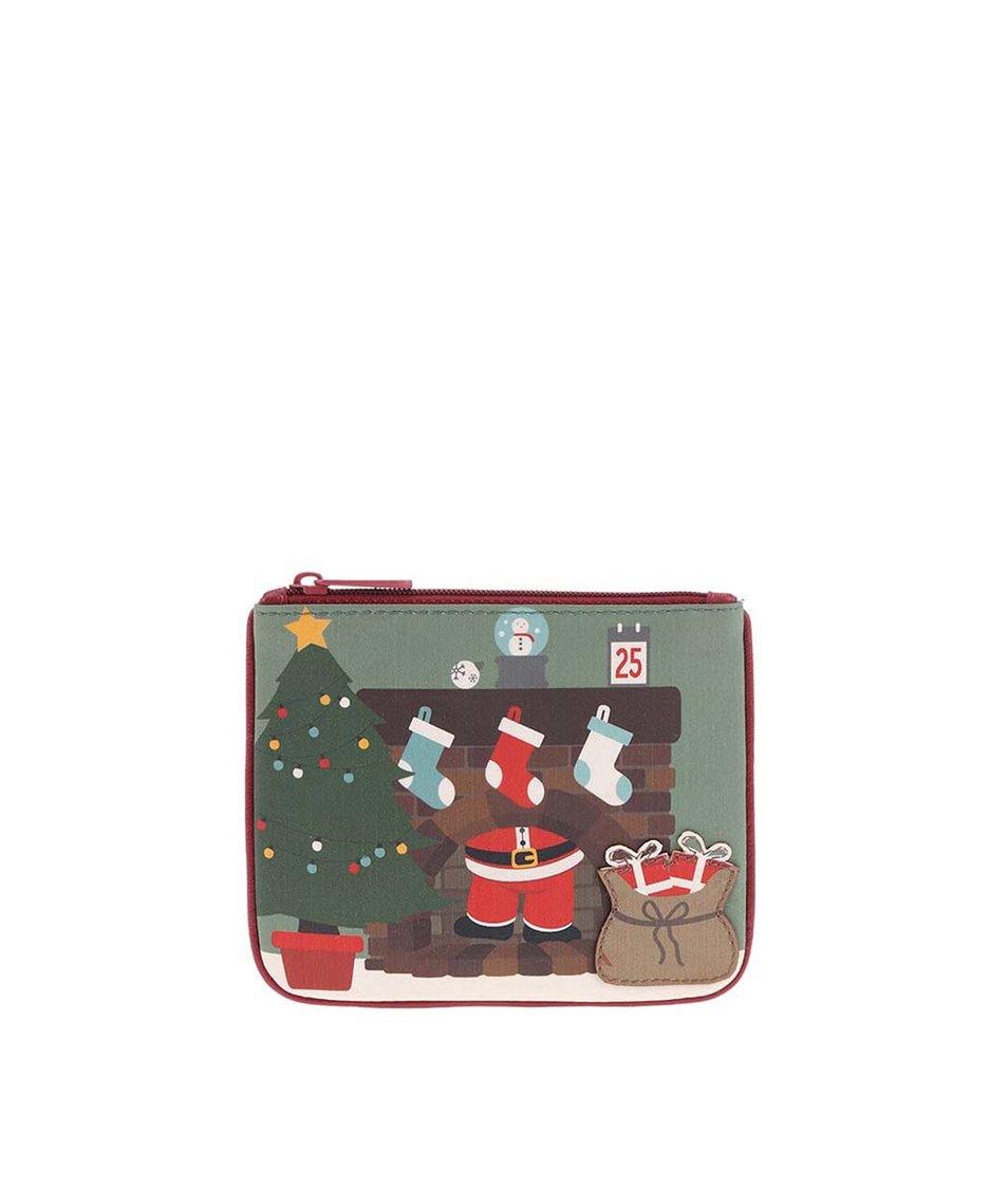 Červená kožená peněženka Harness