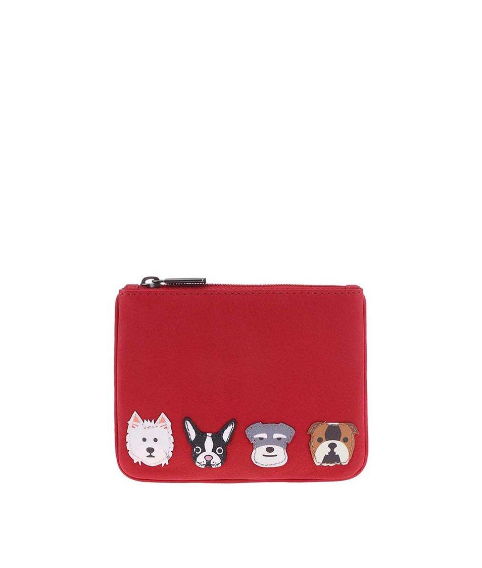 Červená peněženka na mince YOSHI Dog