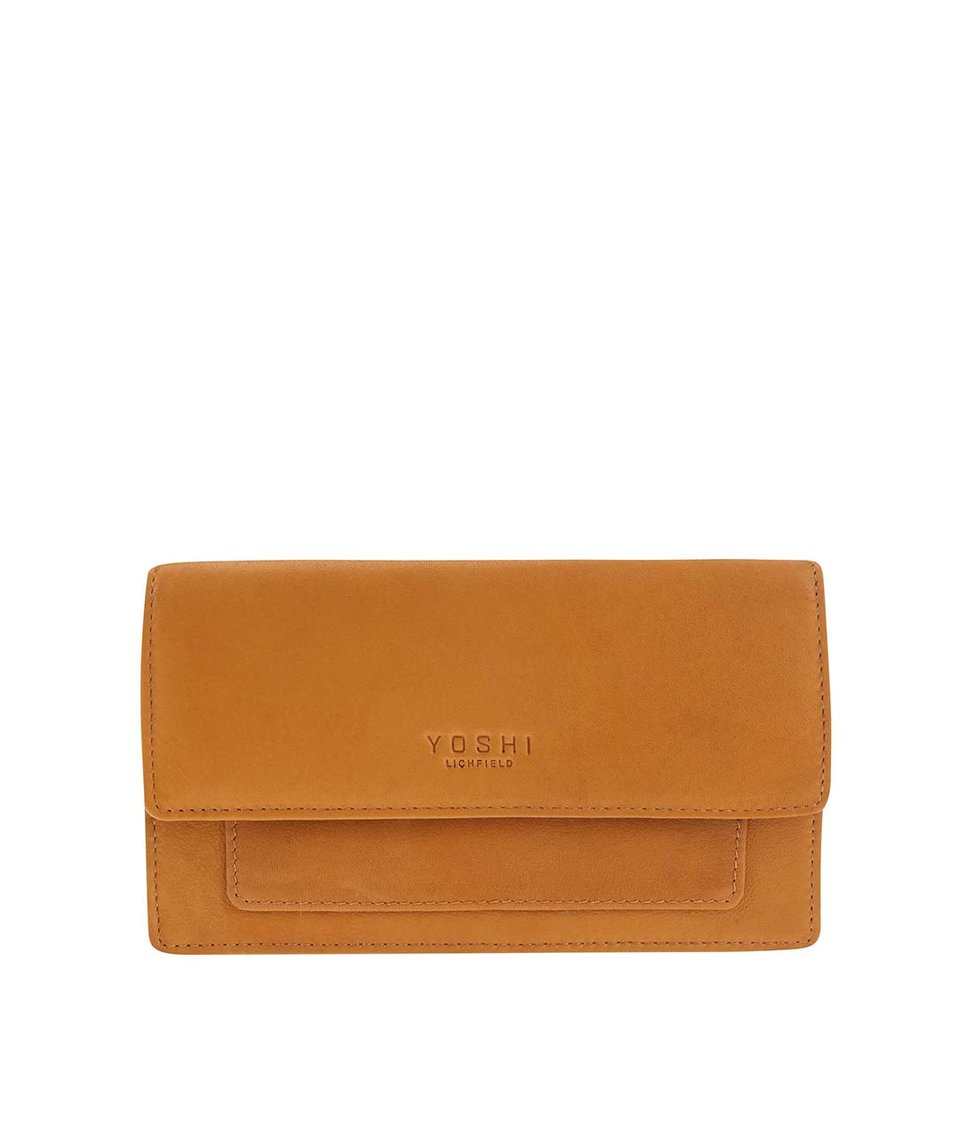 Žlutá kožená peněženka YOSHI Paxton