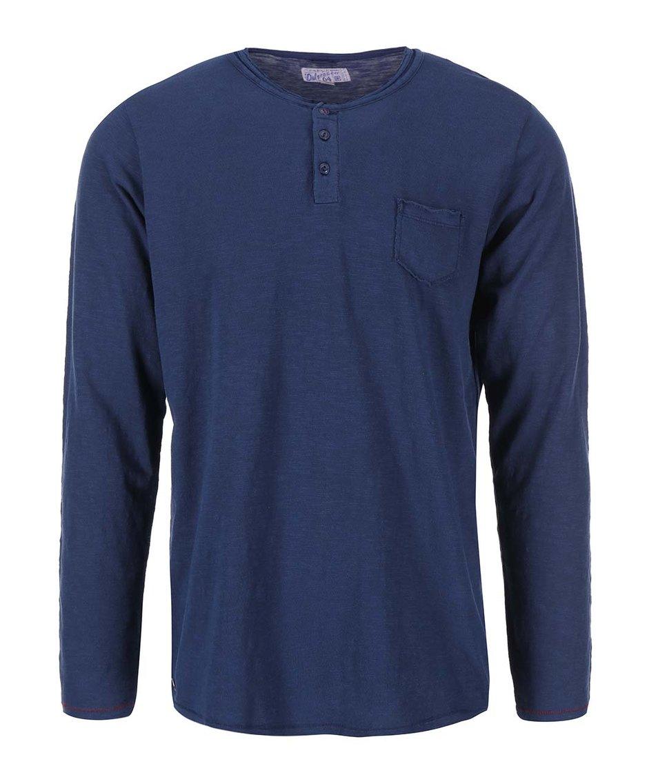 Modré triko s dlouhým rukávem Dstrezzed