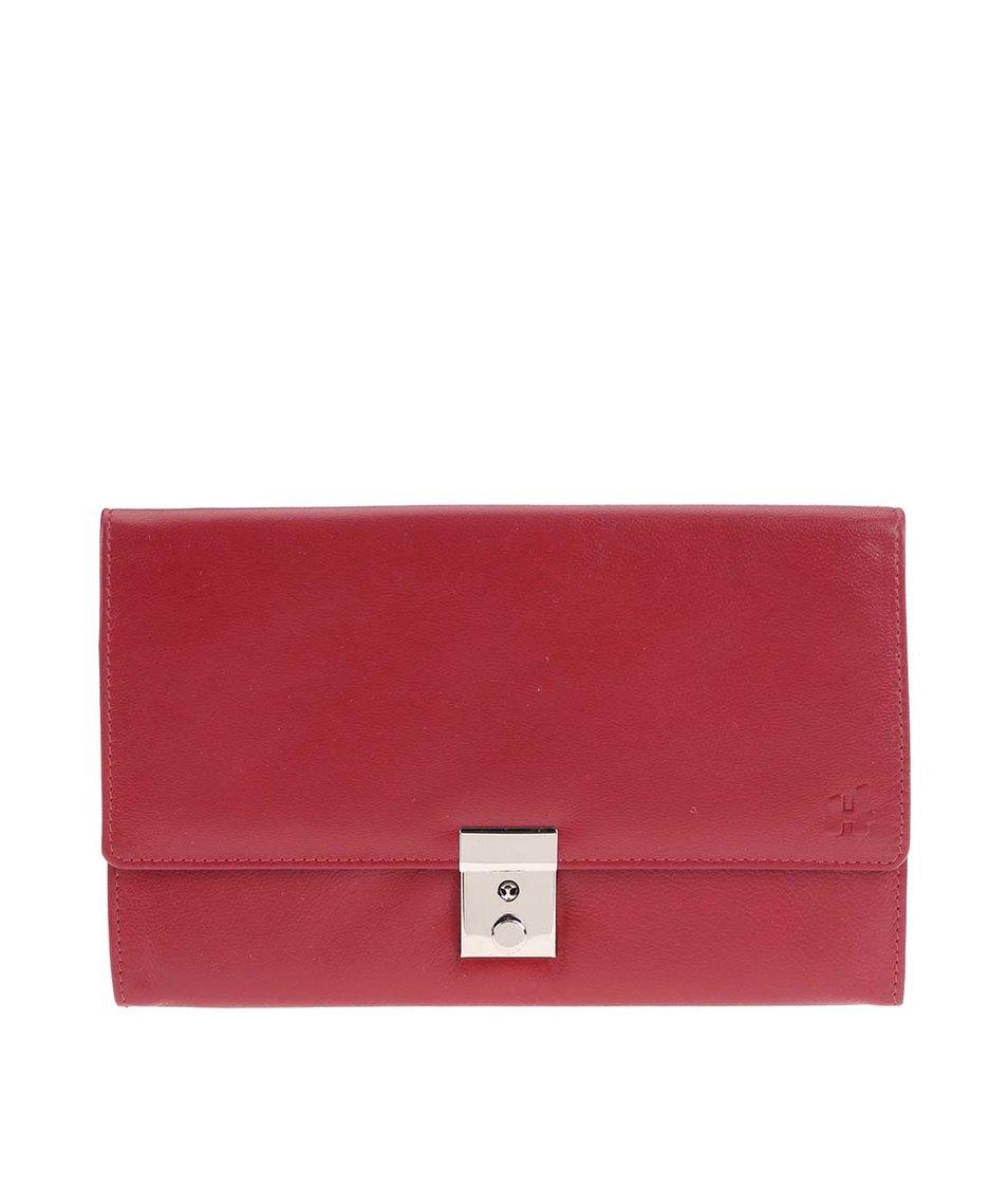 Červené kožené pouzdro na doklady Harness