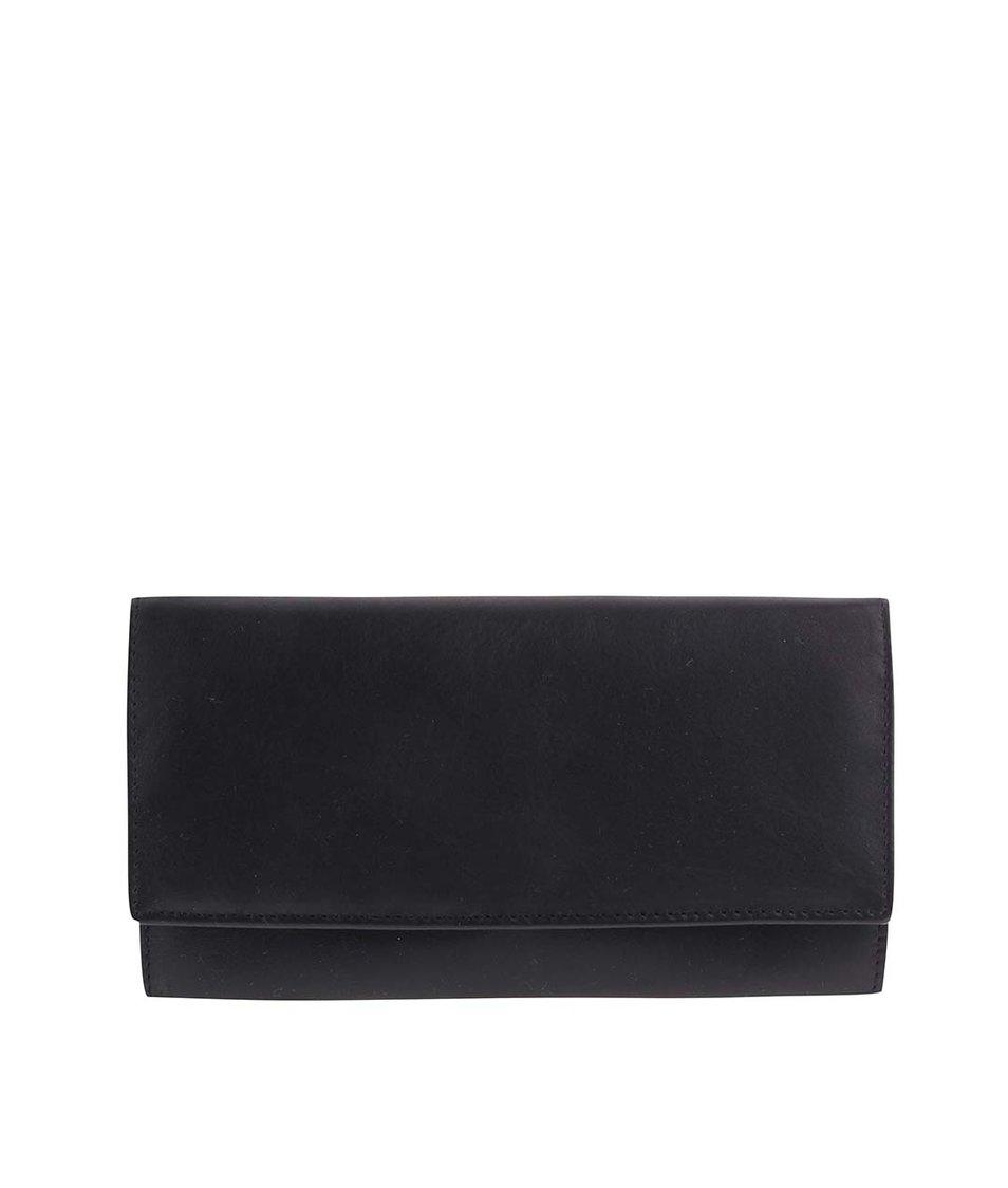 Černá kožená minimalistická peněženka 1642
