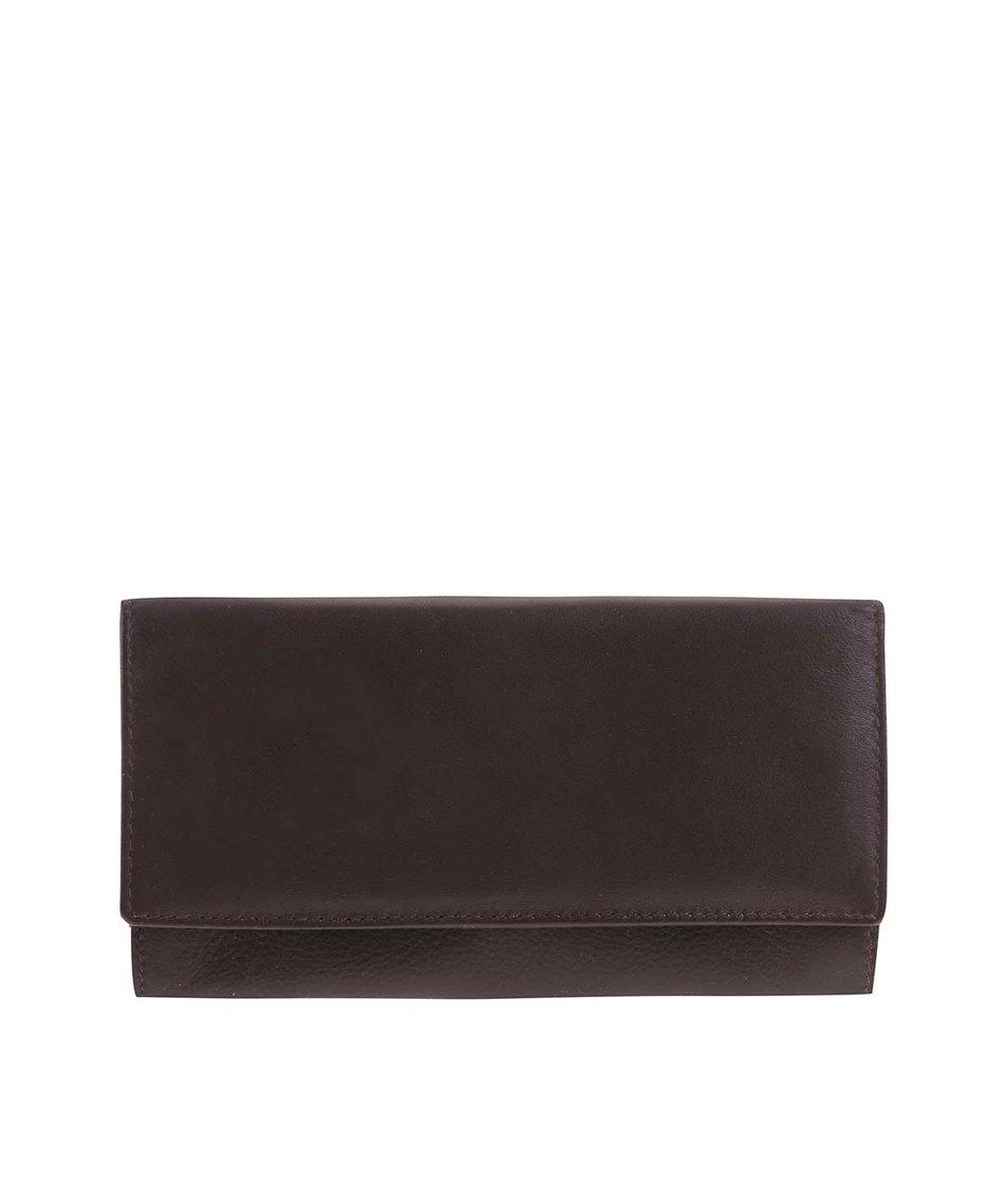 Hnědá kožená minimalistická peněženka 1642
