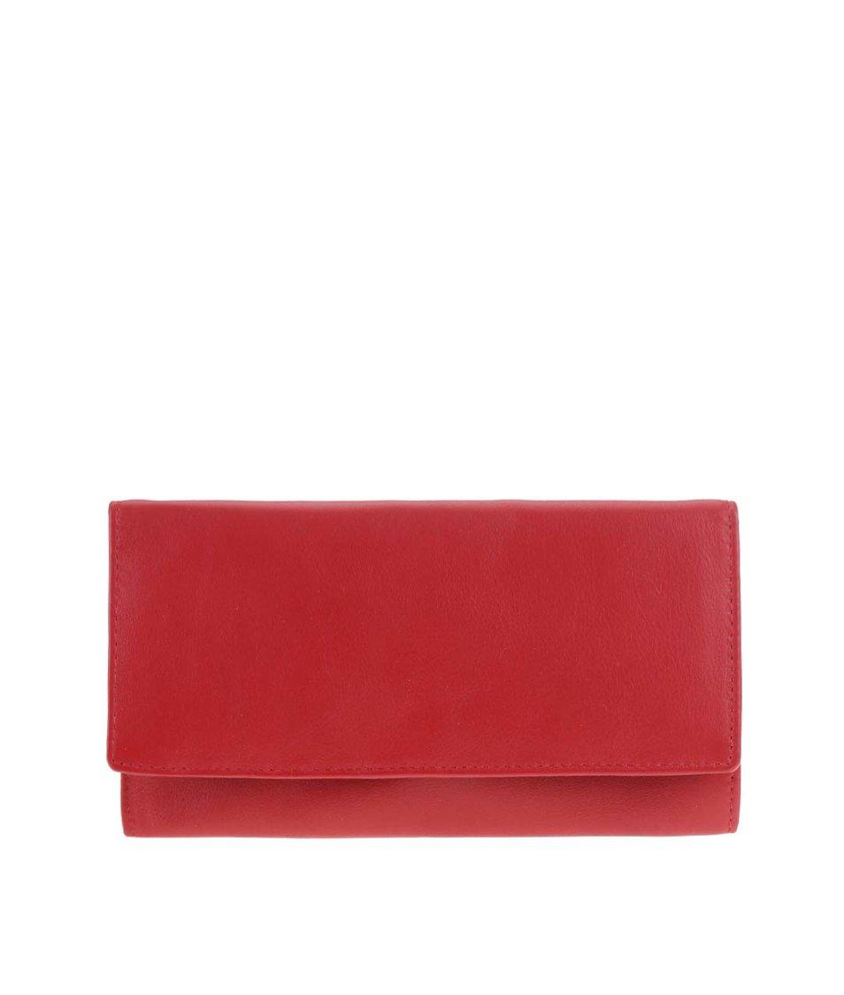 Červená kožená minimalistická peněženka 1642