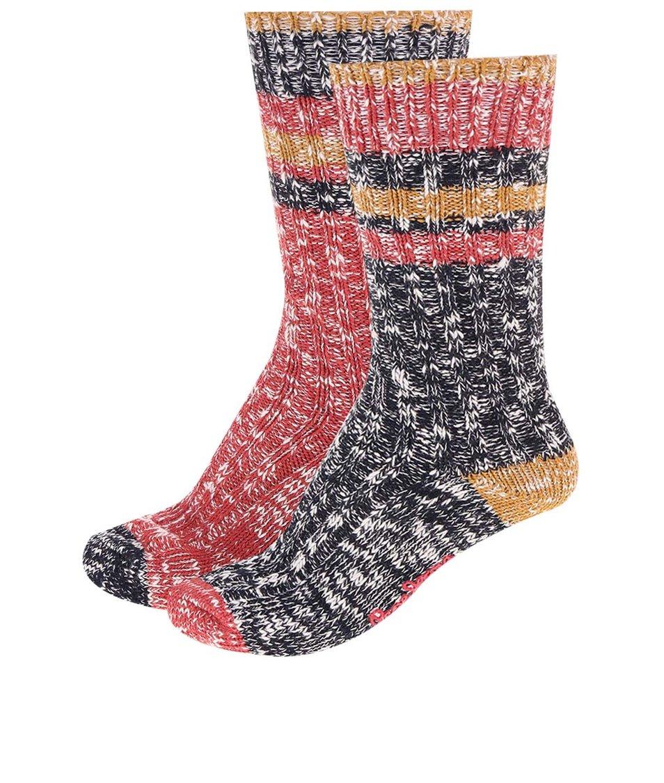 Sada dvou párů modro-červených ponožek Pepe Jeans Norbury
