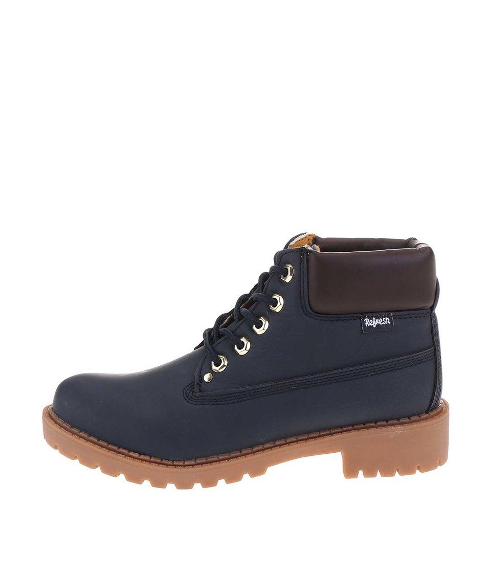Tmavě modré kotníkové šněrovací boty Refresh