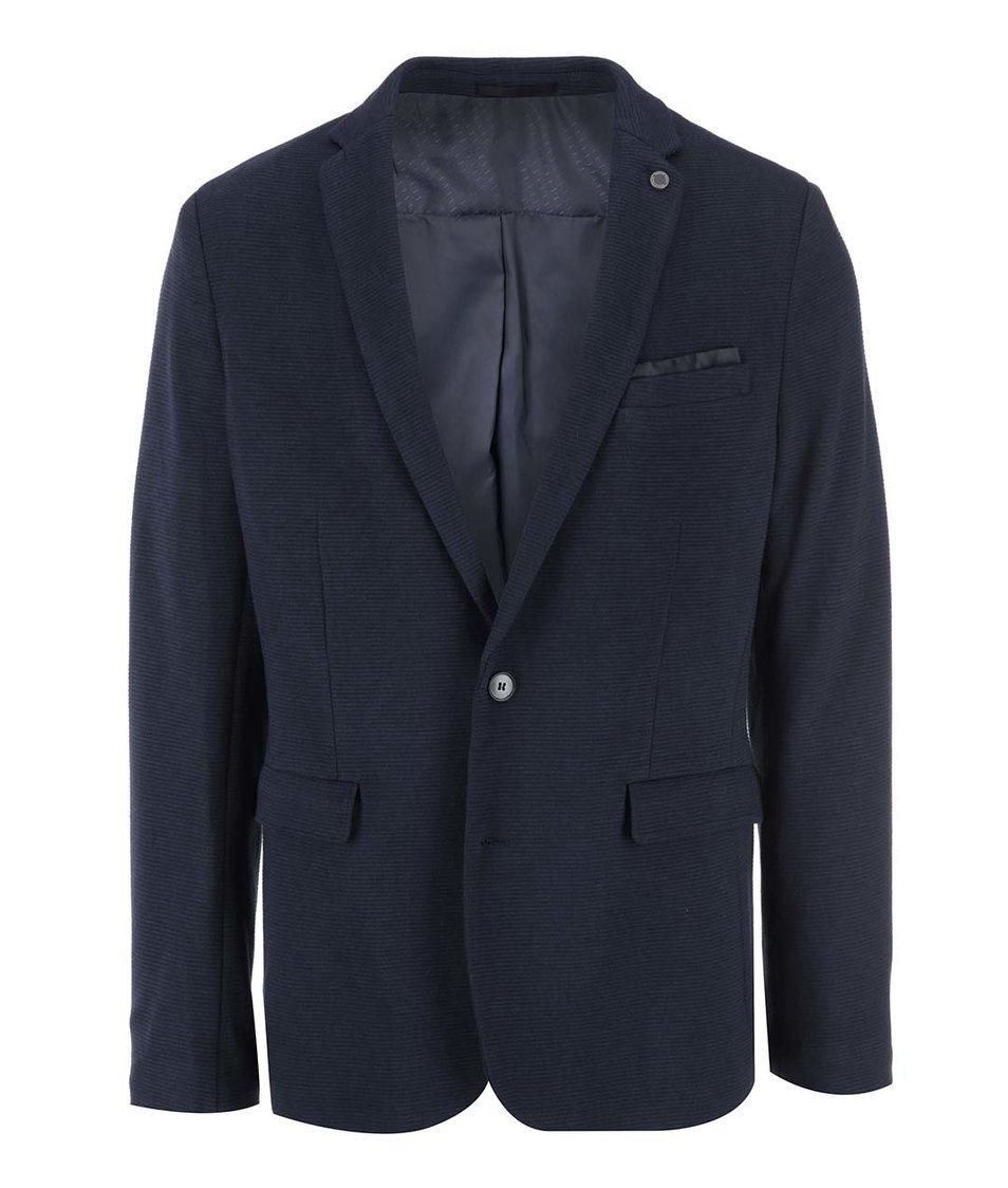 Tmavě modrý pánský blejzr Selected Blazer Tailoring