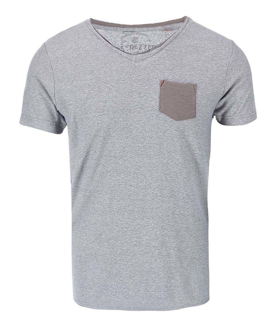Šedé triko s kapsou Dstrezzed