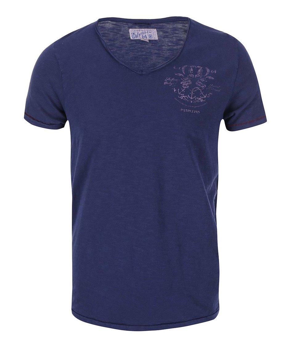 Tmavě modré triko s krátkým rukávem Dstrezzed