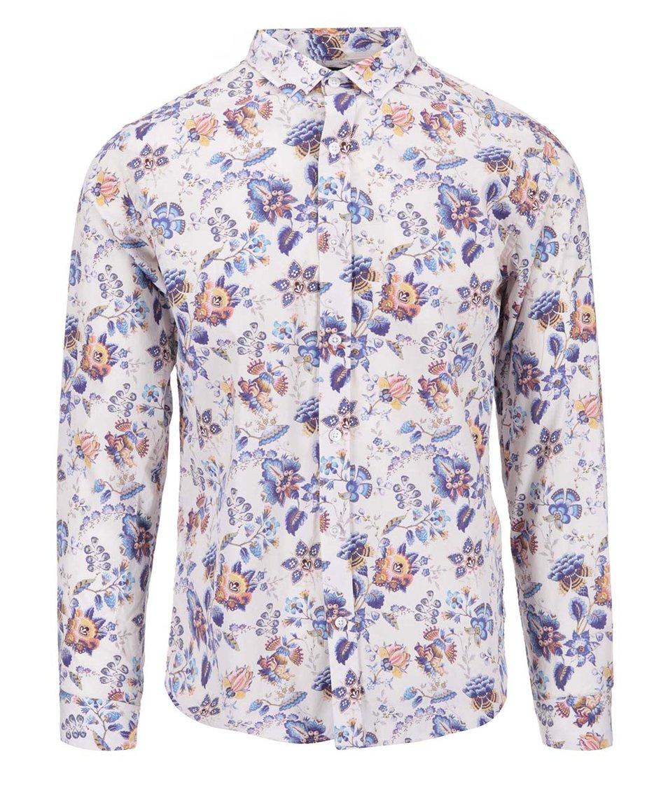 Krémová košile s květy Selected Blom