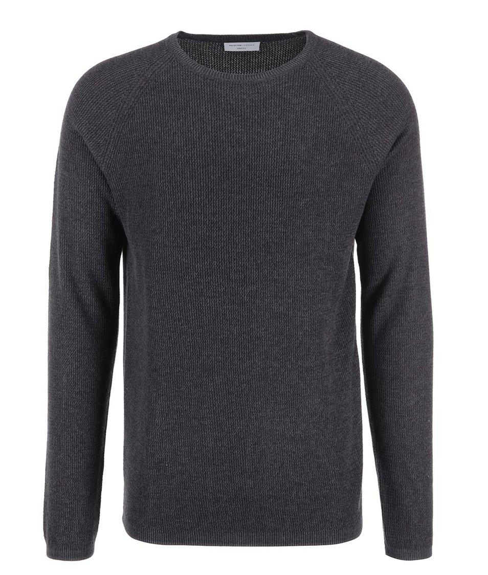 Šedý pánský svetr Selected Cardigan