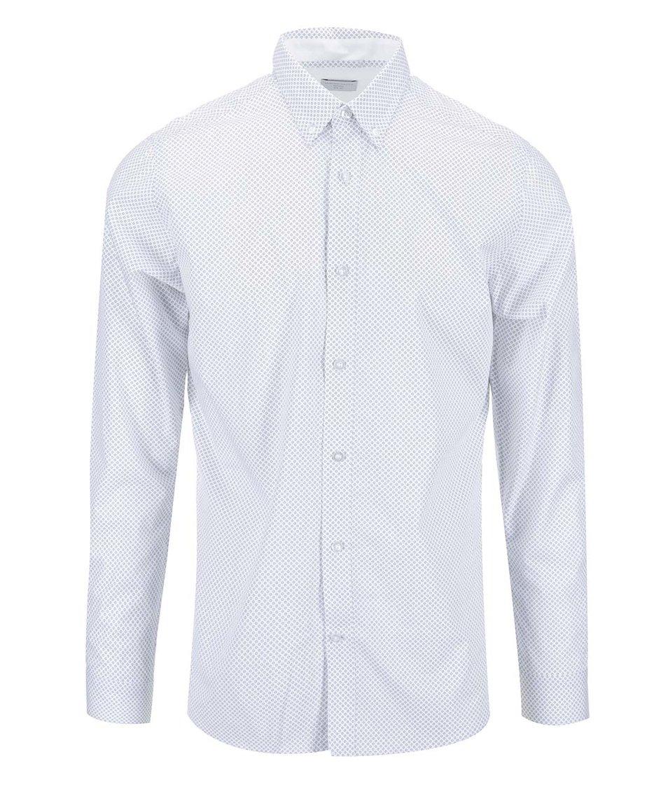 Bílá košile s kroužkovým vzorem Selected