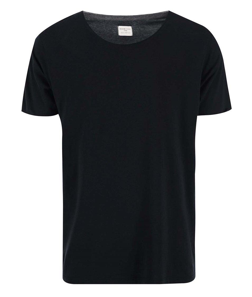 Černé triko Selected Pima