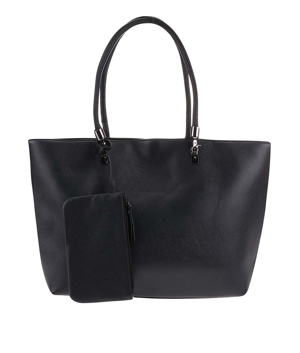 Černý shopper s psaníčkem Pieces Elvira