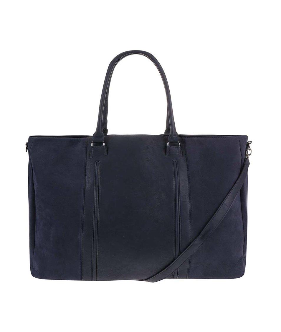 Tmavě modrá velká kabelka Pieces Velia
