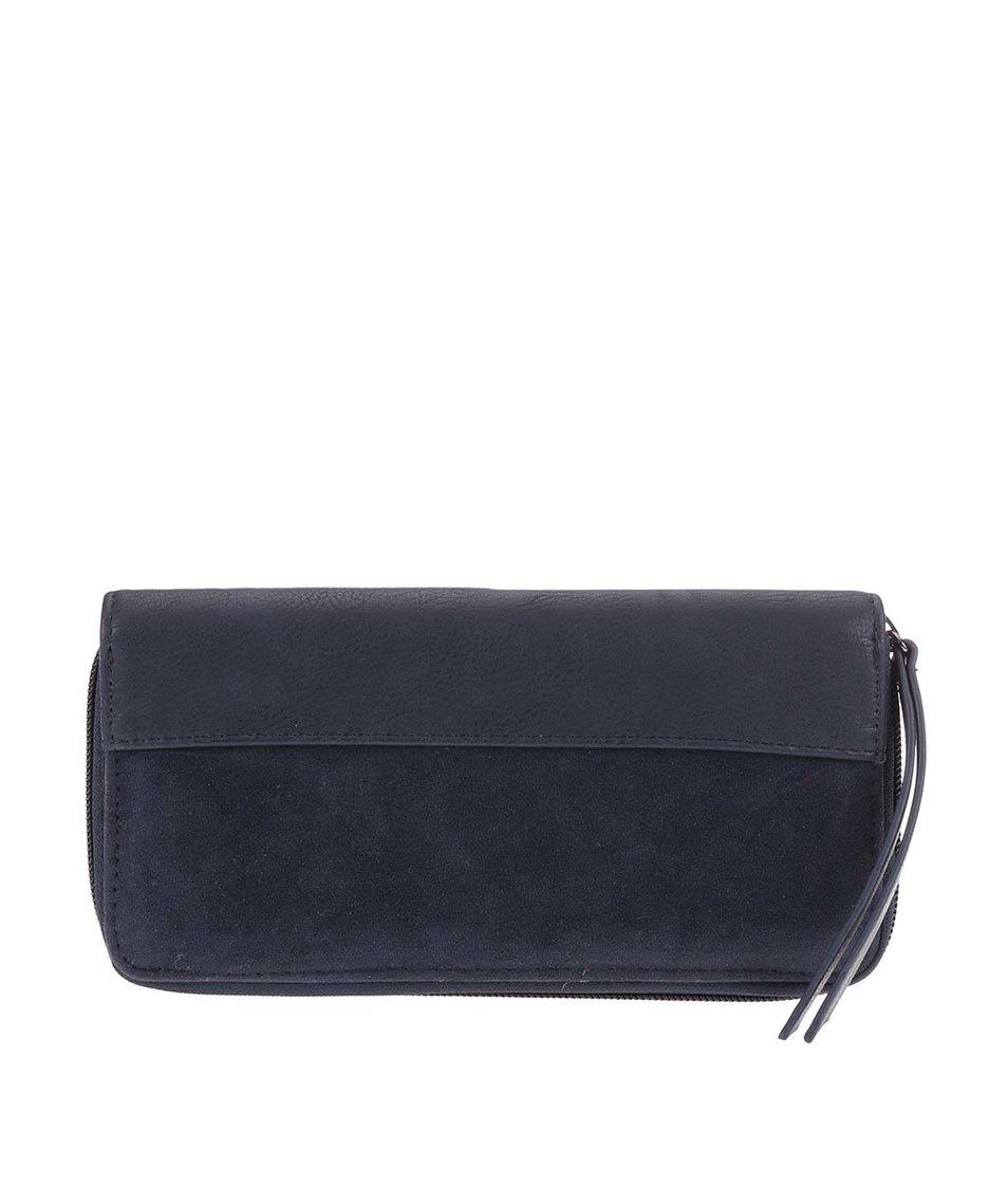 Tmavě modrá obdelníková peněženka Pieces Velia