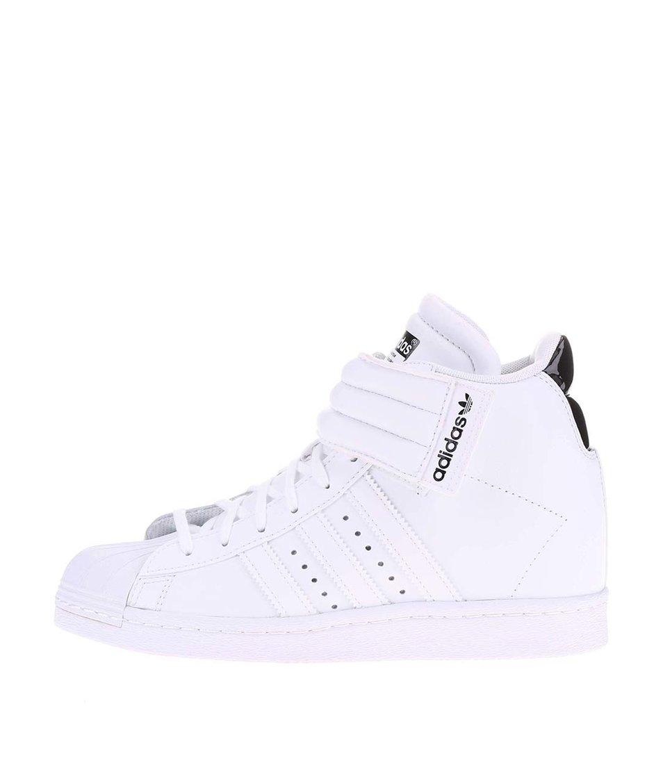 Bílé dámské kotníkové tenisky adidas Originals Superstar UP Strap