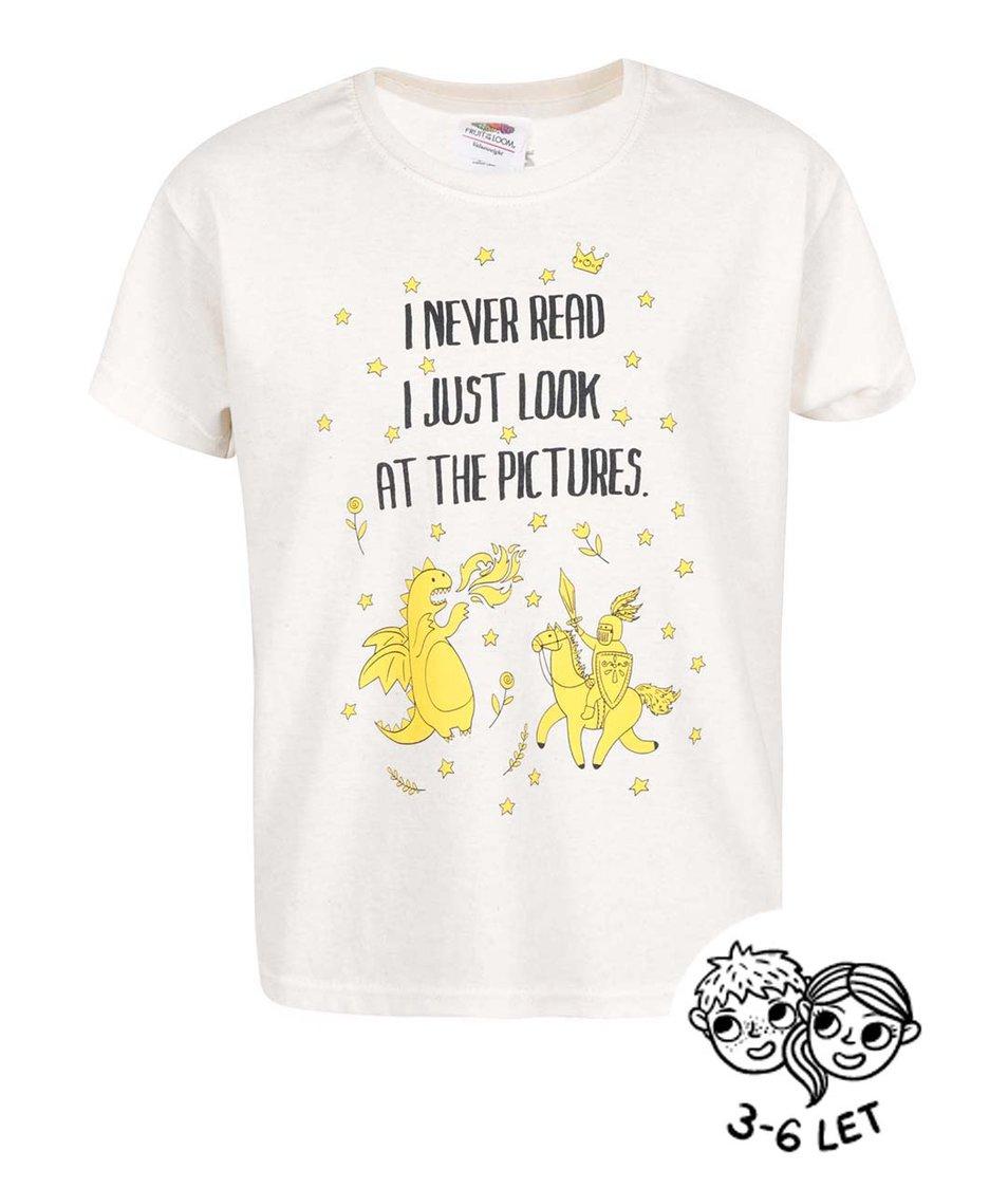 Krémové dětské triko ZOOT Kids I Never Read
