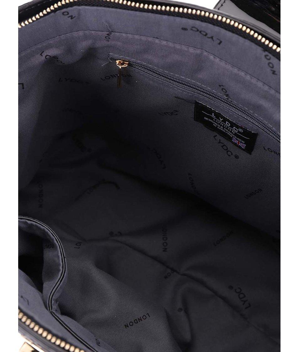 Fialová lesklá kabelka s ombré efektem LYDC