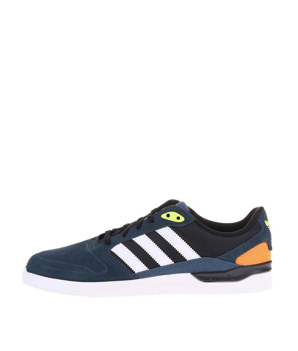 Modré pánské kožené tenisky adidas Originals ZX Vulc